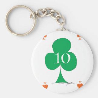 Llavero Irlandés afortunado 10 de los clubs, fernandes