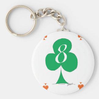 Llavero Irlandés afortunado 8 de los clubs, fernandes tony
