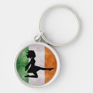 Llavero irlandés de la bandera del bailarín