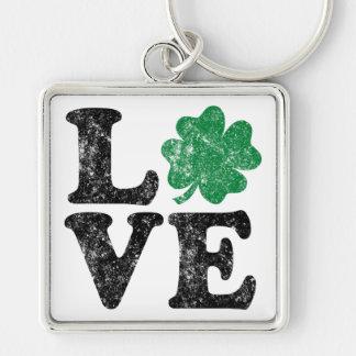 Llavero Irlandés del trébol del AMOR del día de St Patrick