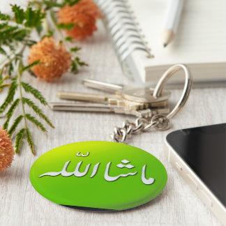 Llavero islámico del llavero de MashAllah en verde