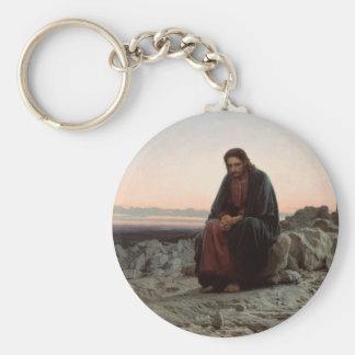 Llavero Ivan Kramskoy- Cristo en el desierto - bella arte