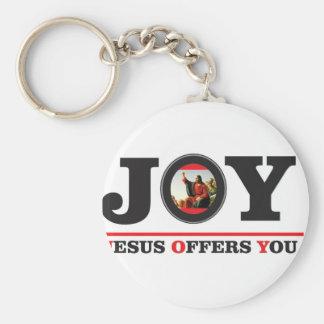 Llavero Jesús le ofrece la etiqueta de la alegría