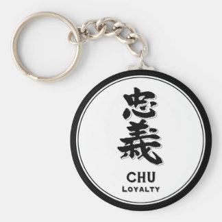 Llavero Kanji del samurai de la virtud del bushido de la