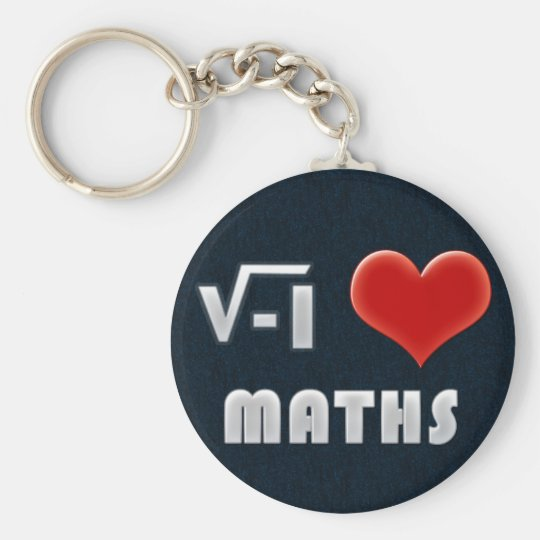 Llavero Keychain I LOVE MATHS