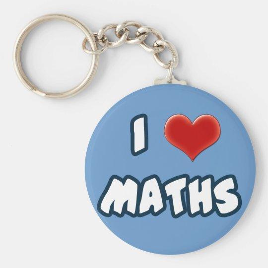 Llavero Keychain I LOVE MATHS