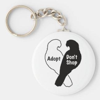 Llavero La adopción del rescate del loro no hace compras