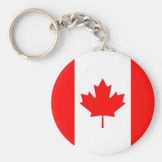 Llavero La bandera de la bandera canadiense de la hoja de