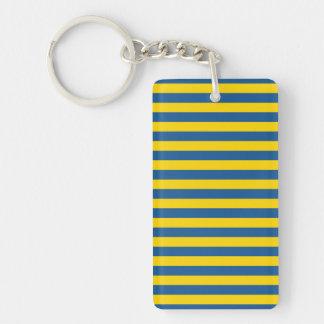 Llavero La bandera de Suecia Ucrania raya las líneas yel