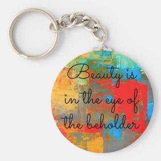 Llavero La belleza está en el ojo del espectador