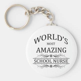 Llavero La enfermera más asombrosa de la escuela del mundo