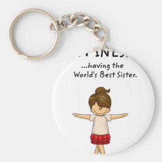 Llavero La felicidad… está teniendo la mejor hermana. .pn