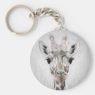 Llavero La jirafa majestuosa retrató de muchos productos
