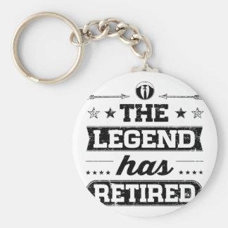 Llavero La leyenda se ha retirado