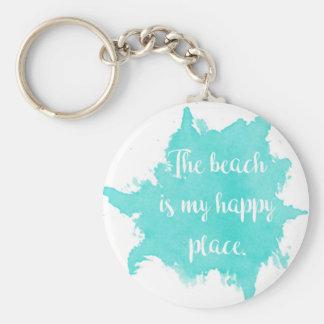 Llavero La playa es mi lugar feliz