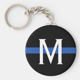 Llavero La policía enrarece el monograma de Blue Line