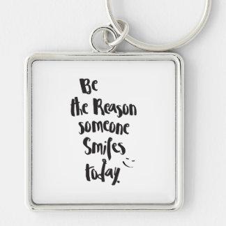 Llavero La razón alguien SmilesToday, caligrafía de la