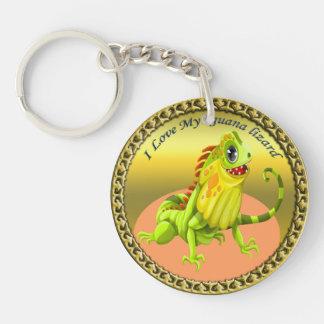 Llavero Lagarto feliz de la iguana de la naturaleza del