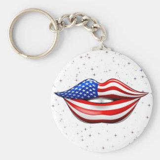 Llavero Lápiz labial de la bandera de los E.E.U.U. en
