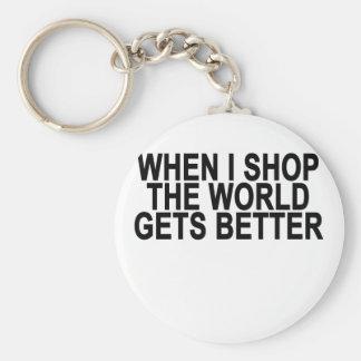 Llavero Las compras hacen el mundo mejor.