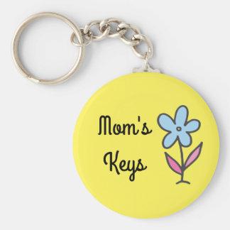 Llavero Las llaves de la mamá con la flor