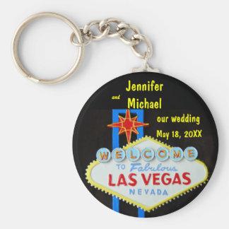 Llavero Las Vegas que casa la fecha