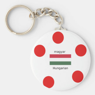 Llavero Lengua de Hungría y diseño de la bandera