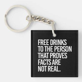 Llavero Libere las bebidas a la persona que prueba que los
