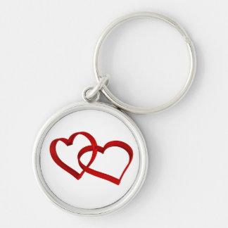 Llavero ligado de los corazones