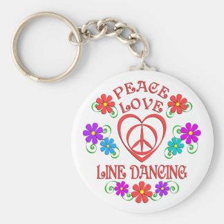 Llavero Línea de amor de la paz baile