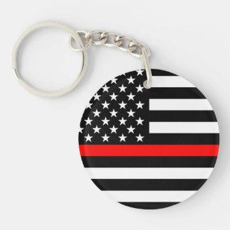 Llavero Línea roja fina símbolo de América
