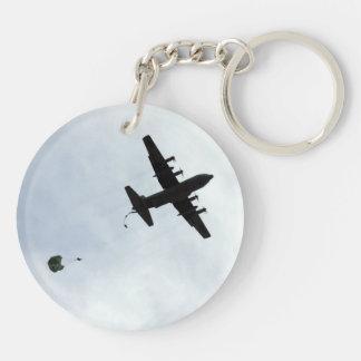 Llavero Llamada del compás del descenso de paracaídas