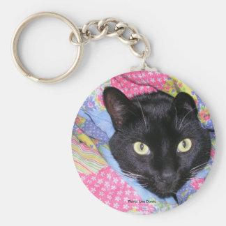 Llavero Llavero: Gato divertido envuelto en mantas