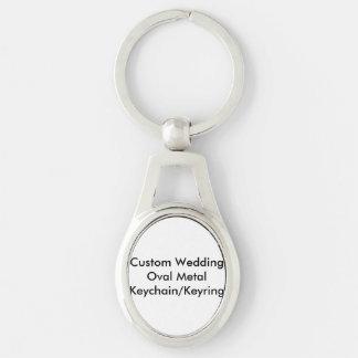 Llavero/llavero ovales del metal del boda de llaveros