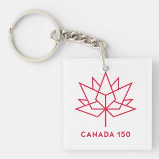 Llavero Logotipo del funcionario de Canadá 150 - esquema