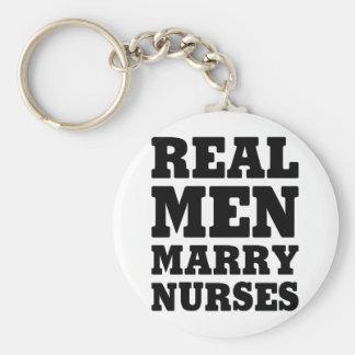 Llavero Los hombres reales casan a enfermeras