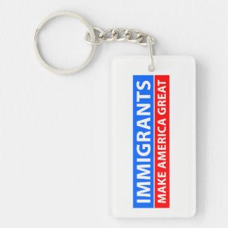 Llavero Los inmigrantes hacen América grande
