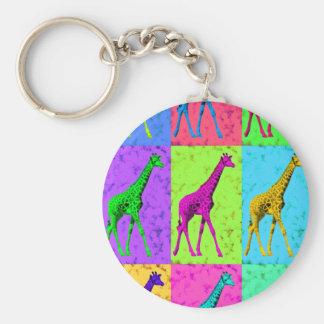 Llavero Los paneles de la jirafa del arte pop que caminan