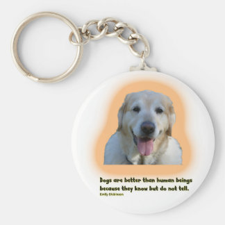 Llavero Los perros son mejores que seres humanos