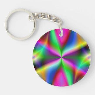 Llavero Lustre metálico colorido del fractal
