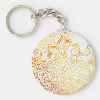 Llavero Mandala - cepillo de oro