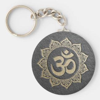 Llavero Mandala de OM del negro y del oro del instructor