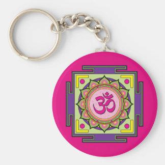 Llavero Mandala de OM Shanti OM