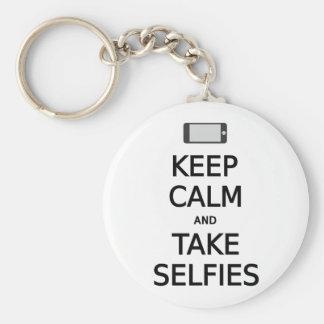 Llavero mantenga los selfies tranquilos y de la toma