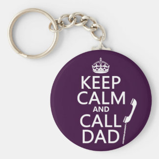 Llavero Mantenga papá tranquilo y de la llamada