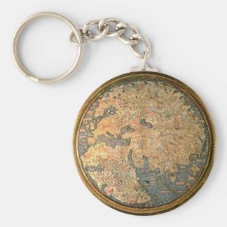Llavero Mapa del mundo del Fra Mauro