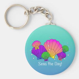 Llavero ¡Mares el día! Seashells del Caribe con las