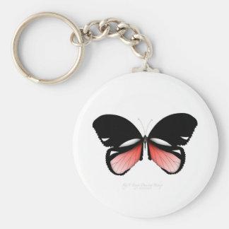 Llavero mariposa del rojo del higo 5 por los fernandes
