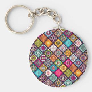 Llavero Marroquí colorido del modelo de la mandala
