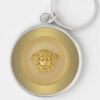 Llavero Medallón de la medusa del oro